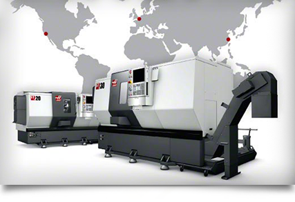 Haas Machines available world-wide